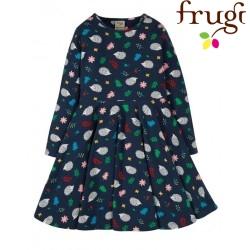 "frugi - Bio Kinder Jersey Kleid ""Sofia"" mit Igel-Allover"