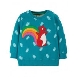 """frugi - Bio Baby Sweatshirt """"Jump"""" mit Eichhörnchen-Applikation"""