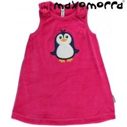 Maxomorra - Bio Baby Kleid mit Pinguin-Motiv