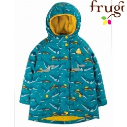 "frugi - Kinder Winterjacke ""Explorer"" mit Wal-Allover"