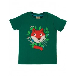 "frugi - Bio Kinder T-Shirt ""James"" mit Fuchs-Applikation"