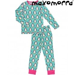 Maxomorra - Bio Kinder Schlafanzug mit Pinguin-Motiv