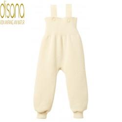 disana - Bio Baby Trägerhose, Wolle, natur