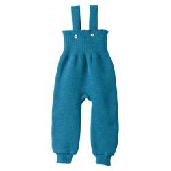 disana - Bio Baby Trägerhose, Wolle, blau