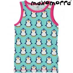 Maxomorra - Bio Kinder Unterhemd mit Pinguin-Motiv