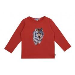 Enfant Terrible - Bio Kinder Langarmshirt mit Wolf-Druck