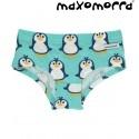 Maxomorra - Bio Kinder Panty mit Pinguin-Motiv