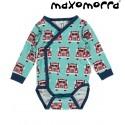 Maxomorra - Bio Baby Wickelbody mit Auto-Motiv