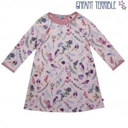 Enfant Terrible - Bio Kinder Sweatkleid mit Blumen-Allover
