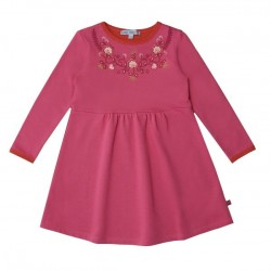 Enfant Terrible - Bio Kinder Sweatkleid mit Blumen-Applikation