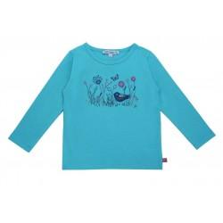 Enfant Terrible - Bio Kinder Langarmshirt mit Blumenwiesen-Stickerei