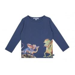 Enfant Terrible - Bio Kinder Langarmshirt mit Drachen-Druck
