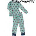 Maxomorra - Bio Kinder Schlafanzug mit Auto-Motiv