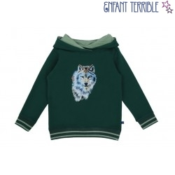 Enfant Terrible - Bio Kinder Sweatshirt mit Wolf-Druck