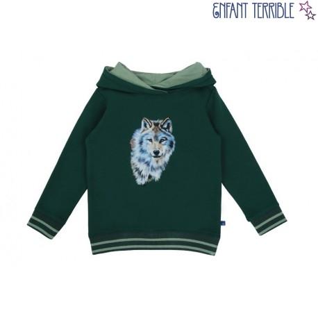 Enfant Terrible - Bio Kinder Sweatshirt mit Wolf-Druck