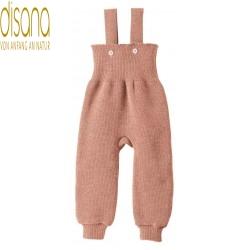 disana - Bio Baby Trägerhose, Wolle, rose
