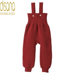disana - Bio Baby Trägerhose, Wolle, bordeaux
