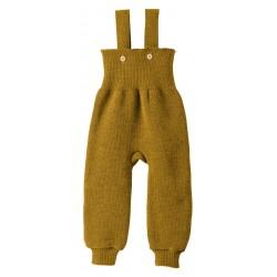 disana - Bio Baby Trägerhose, Wolle, gold