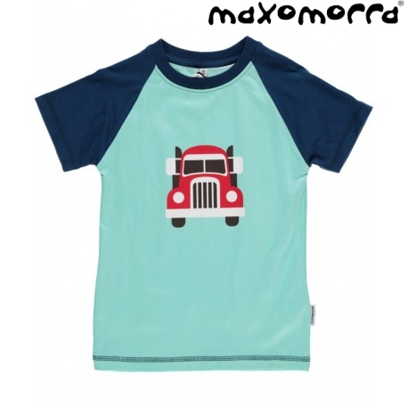 maxomorra bio kinder t shirt mit auto motiv. Black Bedroom Furniture Sets. Home Design Ideas