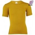 ENGEL - Bio Kinder Unterhemd kurzarm, Wolle/Seide, safran
