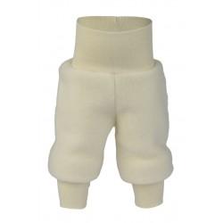 ENGEL - Bio Baby Fleece Hose mit Nabelbund, Wolle, natur