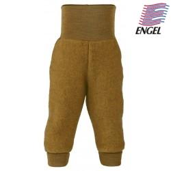 ENGEL - Bio Baby Fleece Hose mit Nabelbund, Wolle, safran