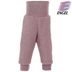 ENGEL - Bio Baby Fleece Hose mit Nabelbund, Wolle, rosenholz