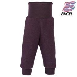 ENGEL - Bio Baby Fleece Hose mit Nabelbund, Wolle, lila