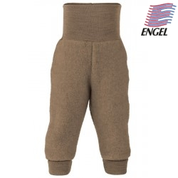ENGEL - Bio Baby Fleece Hose mit Nabelbund, Wolle, walnuss