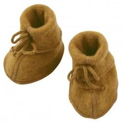 ENGEL - Bio Baby Fleece Schuhe, Wolle, safran