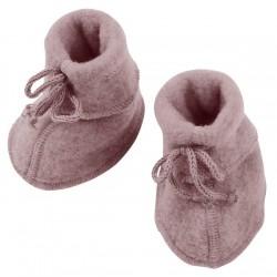 ENGEL - Bio Baby Fleece Schuhe, Wolle, rosenholz