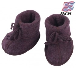 ENGEL - Bio Baby Fleece Schuhe, Wolle, lila