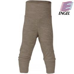 ENGEL - Bio Baby Hose mit Nabelbund, Wolle/Seide, walnuss