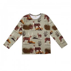 Walkiddy - Bio Kinder Langarmshirt mit Reh-Allover
