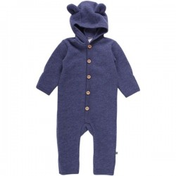 Fred`s World by Green Cotton - Bio Baby Fleece Overall mit Kapuze, Wolle