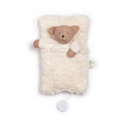 Nanchen Natur - Bio Baby Spieluhr mit Bärchen im Schlafsack, 22cm