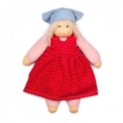 "Nanchen Natur - Bio Baby Schmusepuppe ""Sommerkind Lotti"" 35cm, rosa"