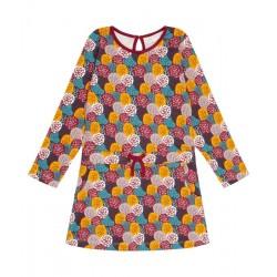 "Sense Organics - Bio Kinder Jersey Kleid ""Pilvi"" mit Blätter-Motiv"