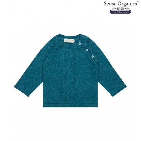 "Sense Organics - Bio Baby Strick Pullover ""Victor"", petrol"