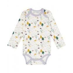 "Sense Organics - Bio Baby Body ""Yvon Retro"" mit Igel-Allover"