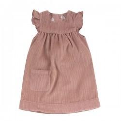 Pigeon - Bio Kinder Wende Kleid aus Cord, rosa
