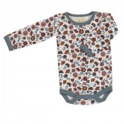 Pigeon - Bio Baby Body mit Blümchen-Allover