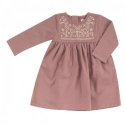 Pigeon - Bio Kinder Jersey Kleid mit Stickerei, rosa