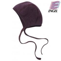 ENGEL - Bio Baby Fleece Mütze, Wolle, lila