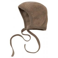 ENGEL - Bio Baby Fleece Mütze, Wolle, walnuss