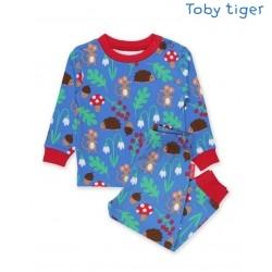 Toby tiger - Bio Kinder Schlafanzug mit Waldtiere-Motiv