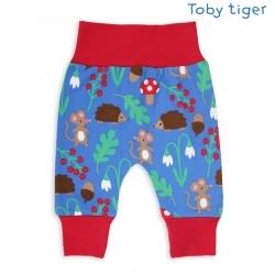 Toby tiger - Bio Baby Sweathose mit Waldtiere-Allover
