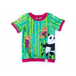 merle kids - Bio Kinder T-Shirt mit Panda-Motiv