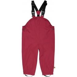 loud + proud - Bio Baby Regenhose mit Trägern, berry, wasserdicht