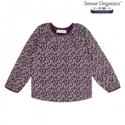 "Sense Organics - Bio Kinder Langarmshirt ""Selly"" mit Blätter-Allover"